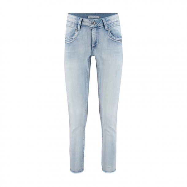 Red Button 7/8 Jeans
